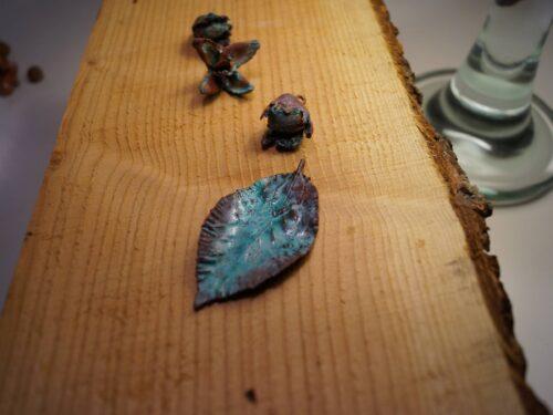 Bøgeblad i kobber